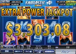 Fantastic Four 50 LinesでEXTRA POWER賞金3,303.08ドル獲得!