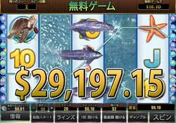 Dolphin Reefで大勝利 29,197.15ドル獲得!
