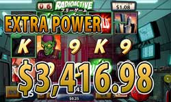 SPIDER-MANでEXTRA POWER JACKPOT 賞金3,416.98ドル獲得!