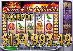 Queen of the Pyramidsで JACKPOT 賞金134,993.49ドル獲得!