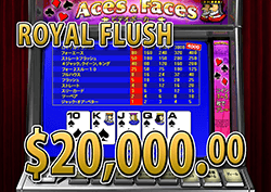Aces And Faces でフラッシュ 賞金20,000.00ドル 獲得!